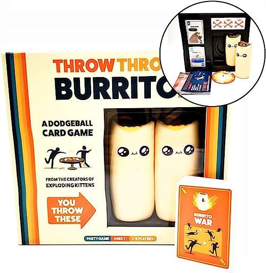 WOGQX Throw Throw Burrito Juego De Cartas (2-6 Personas), Juegos De Fiesta para Toda La Familia, Juegos De Cartas Dodgeball para Adultos, Adolescentes Y Niños (7+): Amazon.es: Hogar