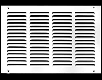 HVAC Duct Cover White Sidewall and Ceiling Outer Dimensions: 19.75w X 21.75h HVAC Premium 18w X 20h Steel Return Air Grilles
