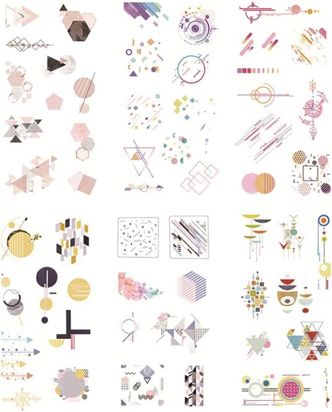 dautocollants carnet de Notes Sticker R/étro Art Autocollant Wall Sticker Mural Journal Intime Bande Kanggest