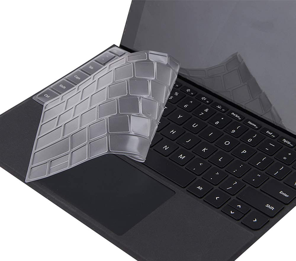 Ultra Thin Clear Keyboard Skin for Microsoft Surface Pro 7 6 2019 2018//Surface Pro 5 2017//Surface Pro 4 Laptop,Premium Soft-Touch TPU Protector,US Layout CASEDOO for Surface Pro 2019 Keyboard Cover