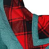 JKLING Womens Houndstooth Turtleneck Sweatshirt