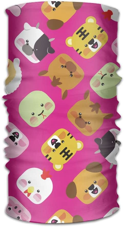 Beautiful Cartoon Animal Unisex Fashion Quick-Drying Microfiber Headdress Outdoor Magic Scarf Neck Neck Scarf Hooded Scarf Super Soft Handle
