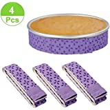 4-Piece Bake Even Strip Cake Pan Dampen Strips Super Absorbent Thick Cotton