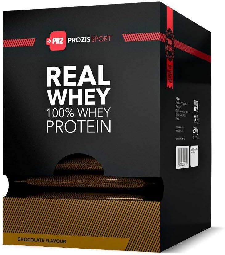 Prozis 100% Pure Real Whey Protein Powder 10x25g - Complemento Sabor Frutas de la Pasión Repleto con BCAA para un Máximo Crecimiento y una Máxima ...