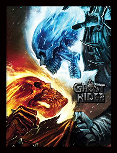 Marvel Extreme Ghost Rider Framed 30 x 40 Official Print - Overall Size: 36 x 46 cm (14 x 18 inches) Print Size: 30 x 40 cm
