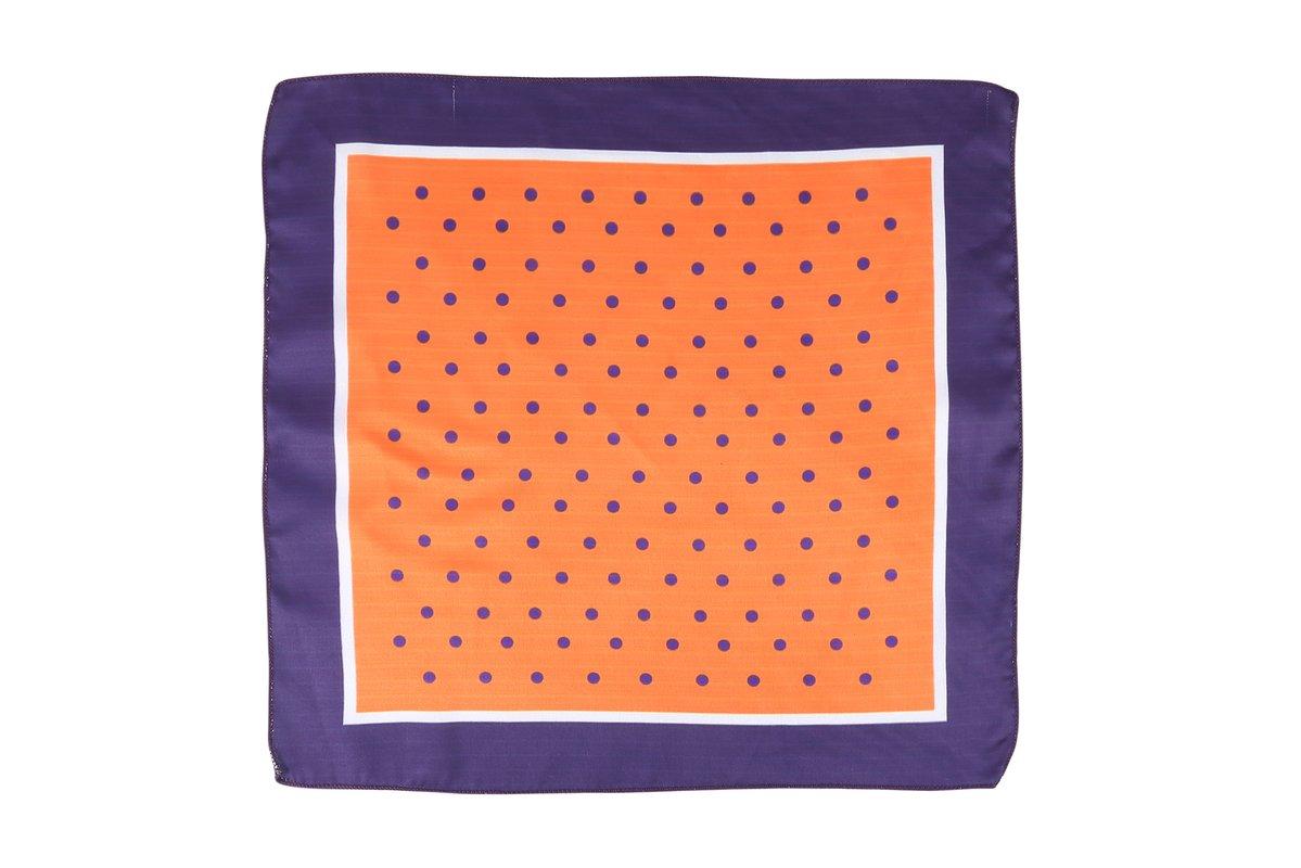 Cladien Men's Handkerchief Free Size Orange/Purple