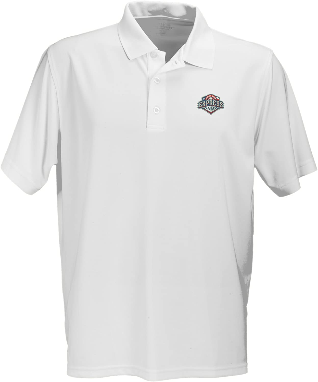 Vantage Apparel Minor League Baseball Round Rock Express Mens Performance Mesh Polo Shirt Medium White