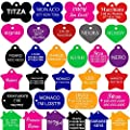 CNATTAGS Pet ID Tags Many Shape, 8 Colors, Personalized Front and Back Premium Aluminum for Dogs and Cats by CNATTAGS LLC