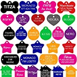 CNATTAGS Dog Tags Pet ID Tags | FRONT AND BACK ENGRAVING | Premium Aluminium | Many Shapes and Colors to Choose From