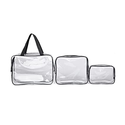64a3f40aa357 Amazon.com  TECHSON Travel Clear Makeup Bags