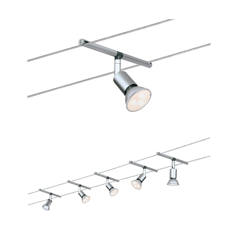 Paulmann 4 LED Light Complete Metal Track Ceiling Light Kit White Mat Finish