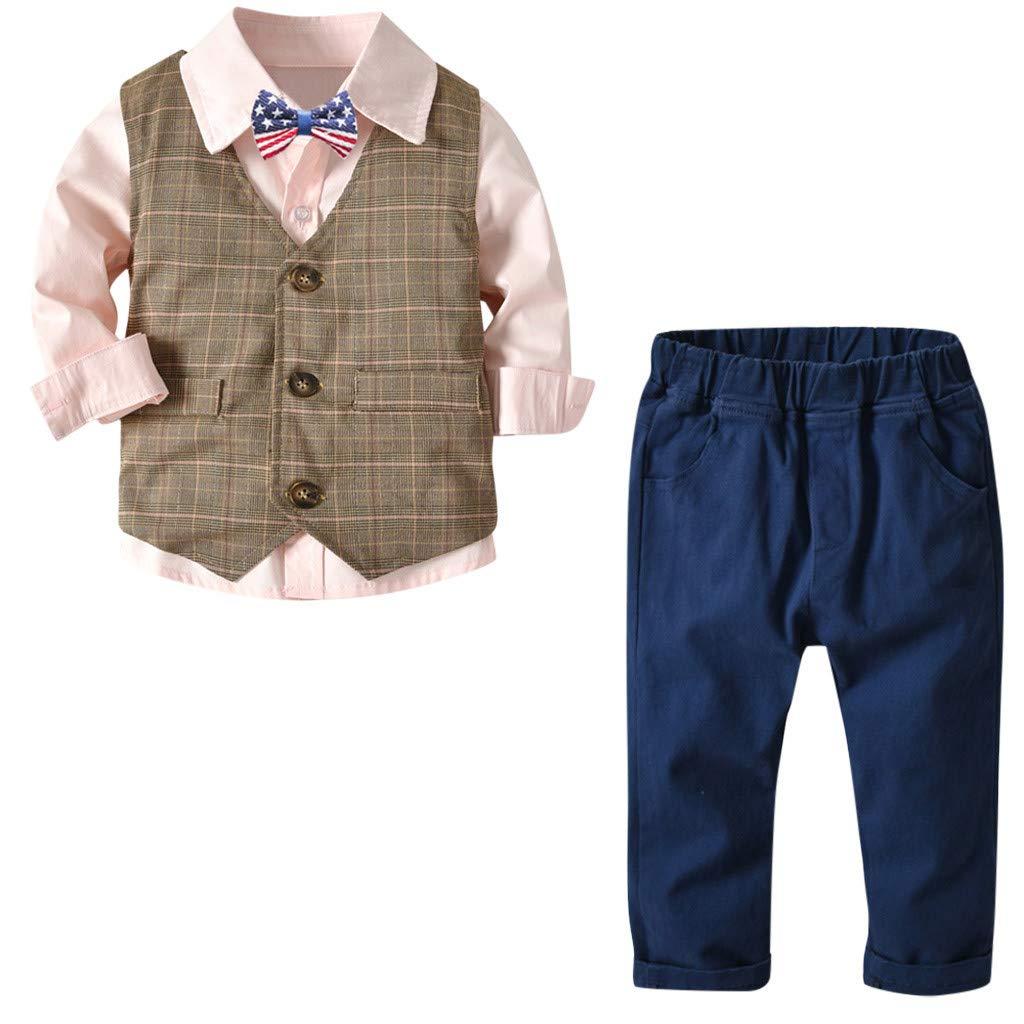 Amazon.com: Boy Bowtie Gentleman Chaleco pantalones, 1 – 6 ...