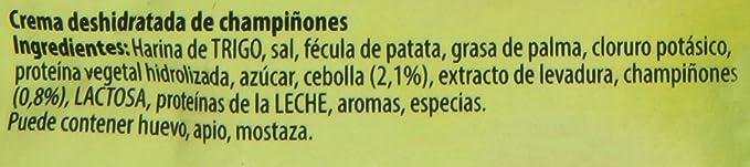 Knorr Crema Deshidratada de Champiñones, 65g: Amazon.es ...