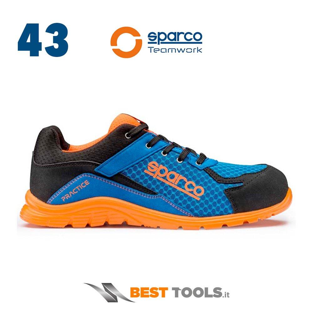 Sparco 0751743 Azaf Practice Scarpe, blu/arancione 0751743AZAF
