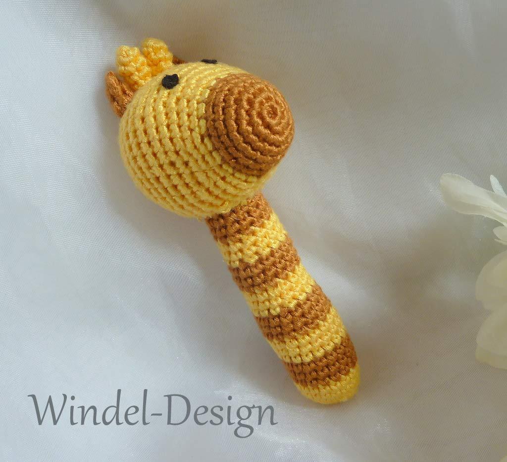 Hä kel-Rassel Giraffe gelb - Mä dchen - Jungen Bambusgarn