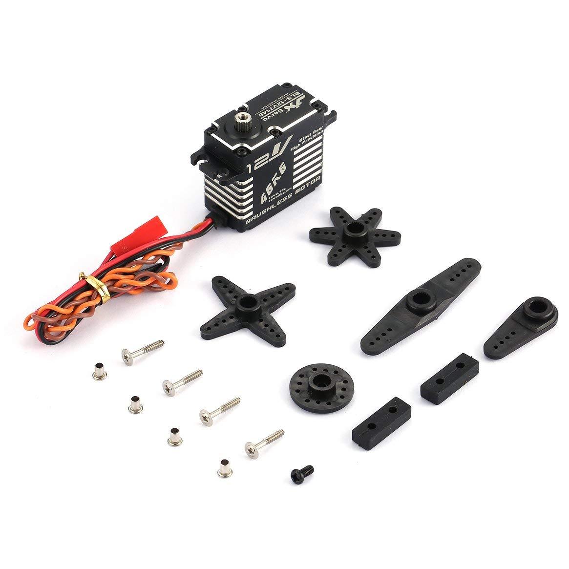 JX BLS-12V7146 Metall Universal Digital Servo mit 47 kg Hohe Drehmoment für RC Auto Roboter Flugzeug Starrflügel Flugzeug Drone