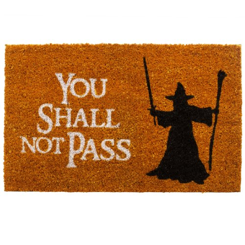 getDigital Doormat You shall not pass | Carpet Entrance Rug Front Door Welcome Mat | Made from coco coir fibers | Perfect for Lord of the Rings lovers | Orange-Brown ()