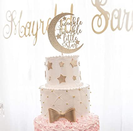 Amazon Kiskistonite Twinkle Twinkle Little Star Cake Topper