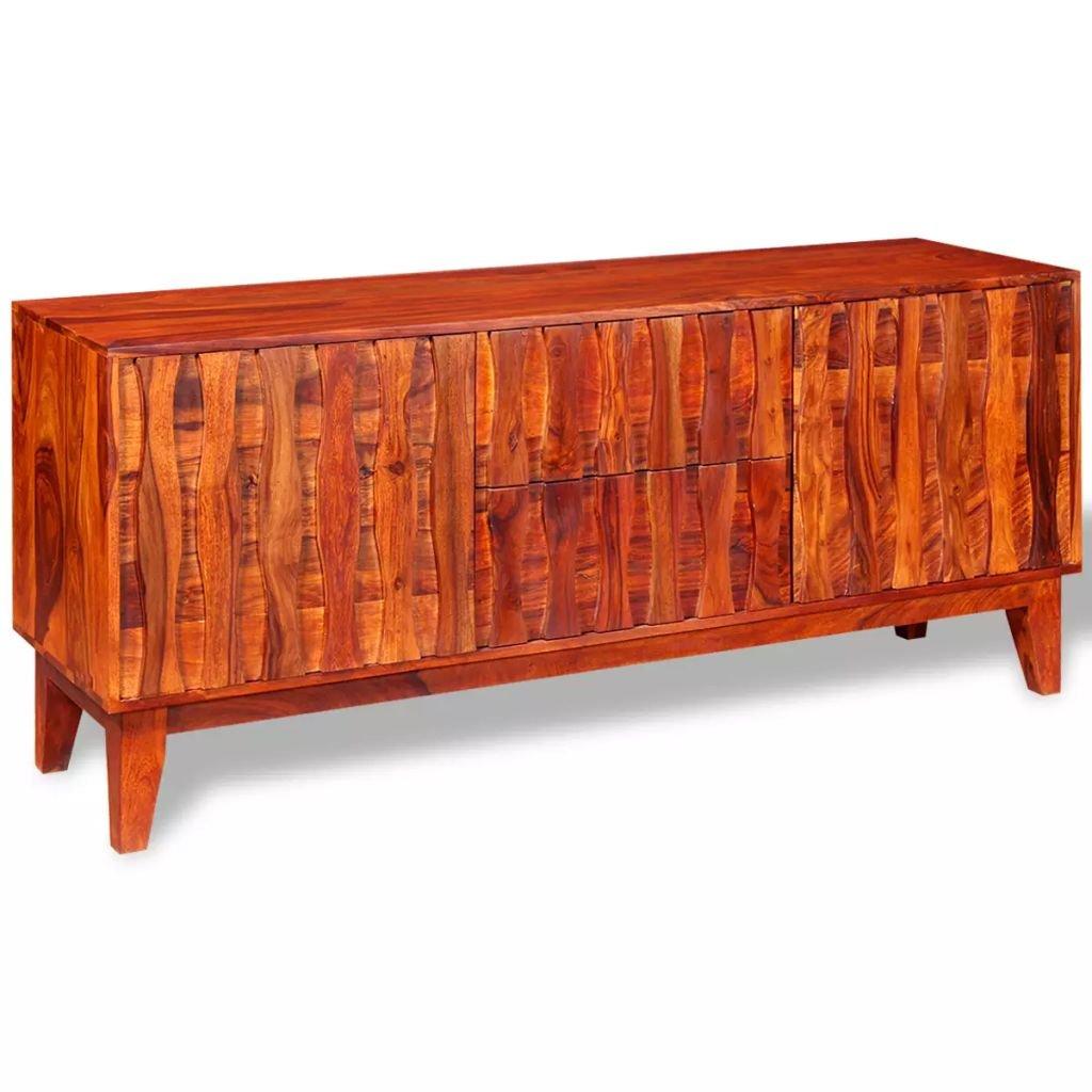 FZYHFA Buffet aus Massivholz Sheesham 160x 45x 70cm braun Möbel Stauraum
