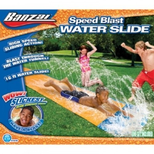 Kids Summer Fun Backyard Fun Banzai Water Slide Inflatable Play Center Summer Outdoor Pool Fun Swimming (Backyard Waterslide)