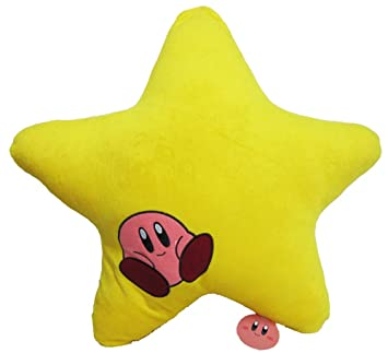 Amazon.com: Kirby Aventura Estrella Amarilla Cojín: Smiling ...