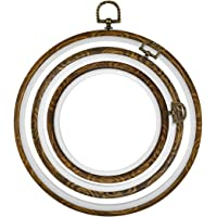 HEALLILY Embroidery Hoops Imitated Wood Cross Stitch Hoops