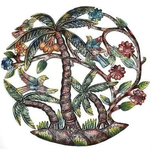Large Palm Tree Tropical Metal Wall Art - Contemporary wall art