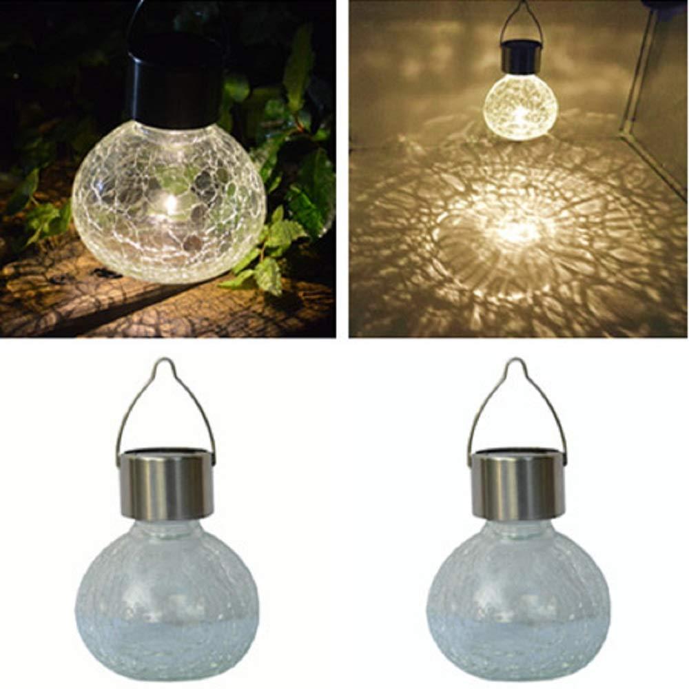 Sogrand Solar Jar Lights Glass Bulbs Light Table Lamp Decorations Mason Jar  Globe Tree Lights For The Garden Table Lamps Outdoor Hanging Solar Lantern  2Pack