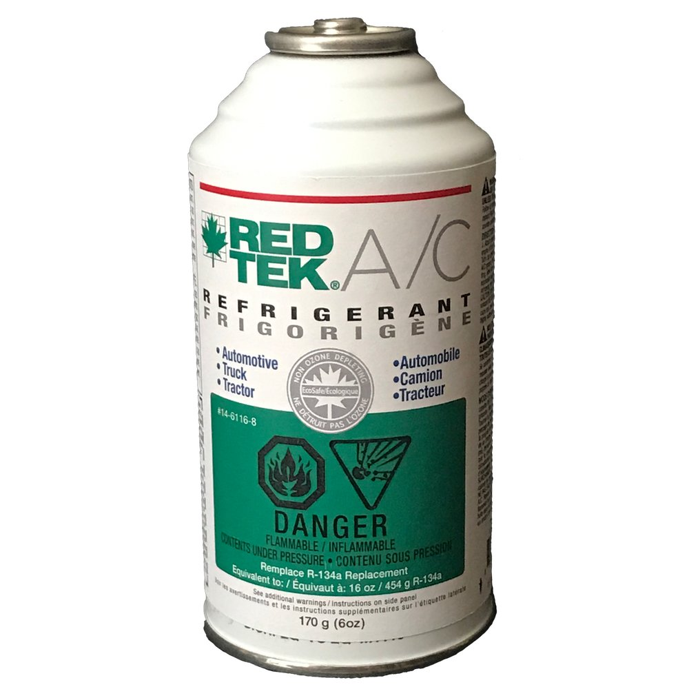 Case of 12 cans - REDTEK A/C Refrigerant (6 Ounce Cans)