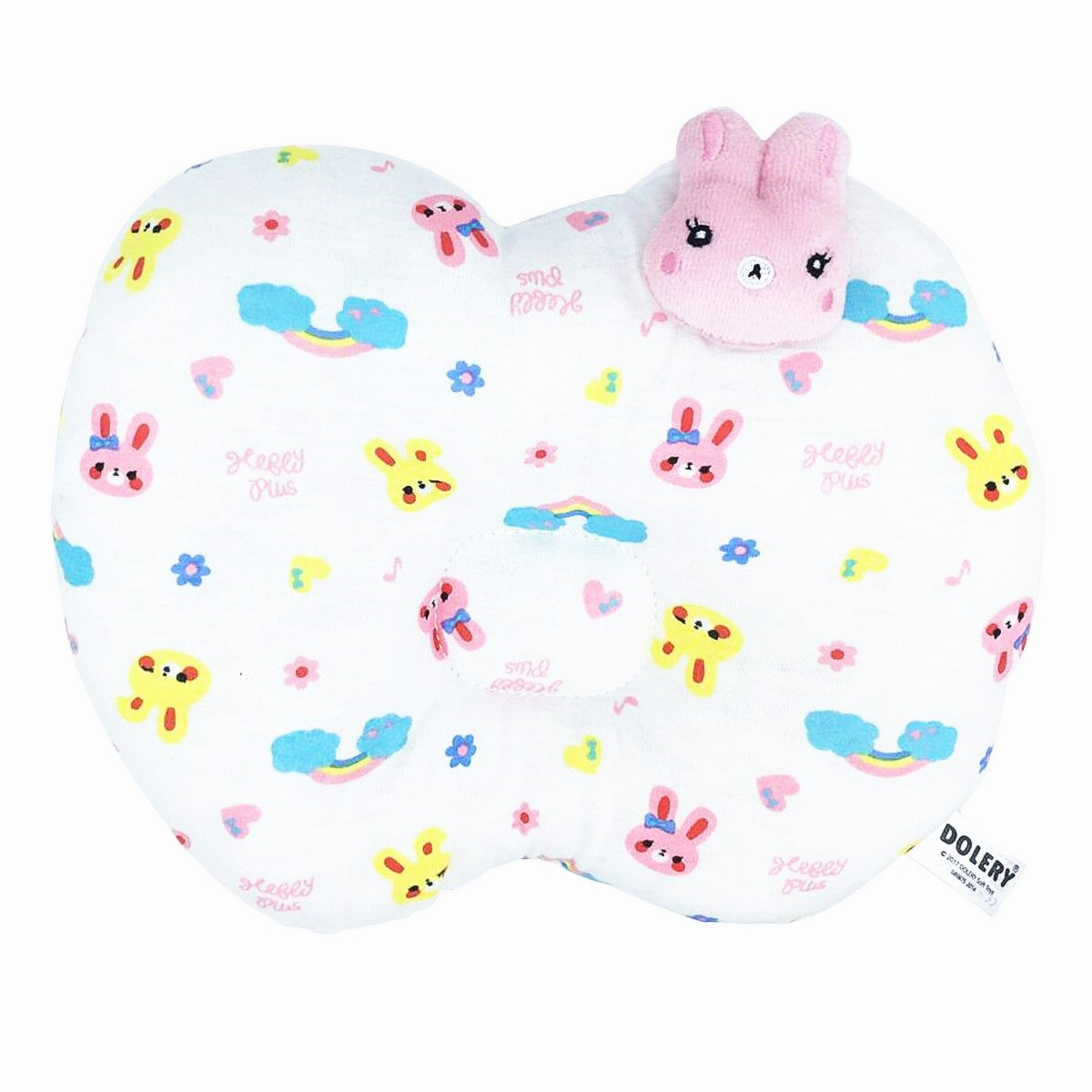 Travel Breastfeeding Pillow, Slip-On Arm Nursing Pillow for Baby,100% Cotton Cover (Pink)