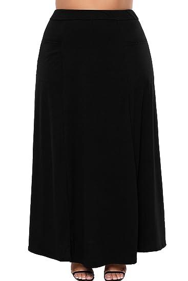 Falda maxi negra con bolsillos, vestido de fiesta, vestido de ...