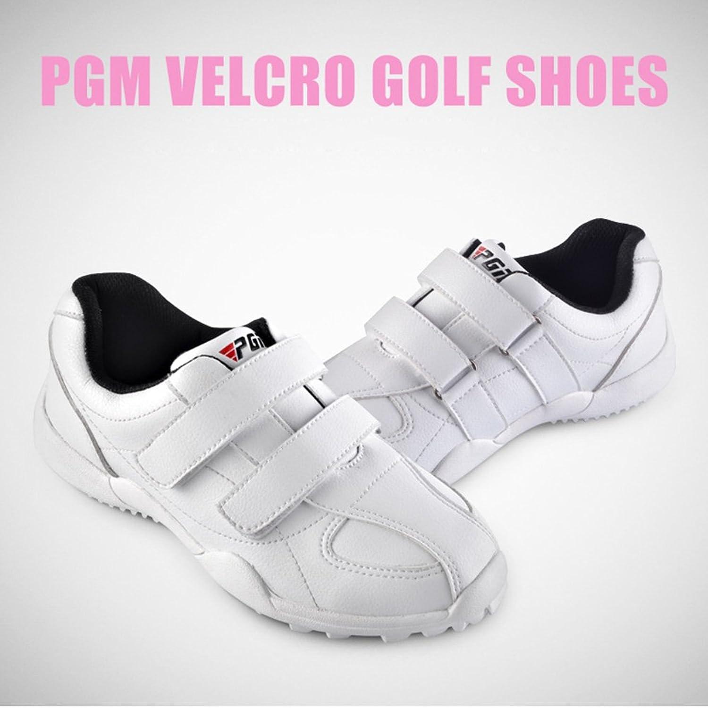 PGM - Zapatos de golf de poliuretano para niño blanco blanco 32 EU, color, talla 36 EU