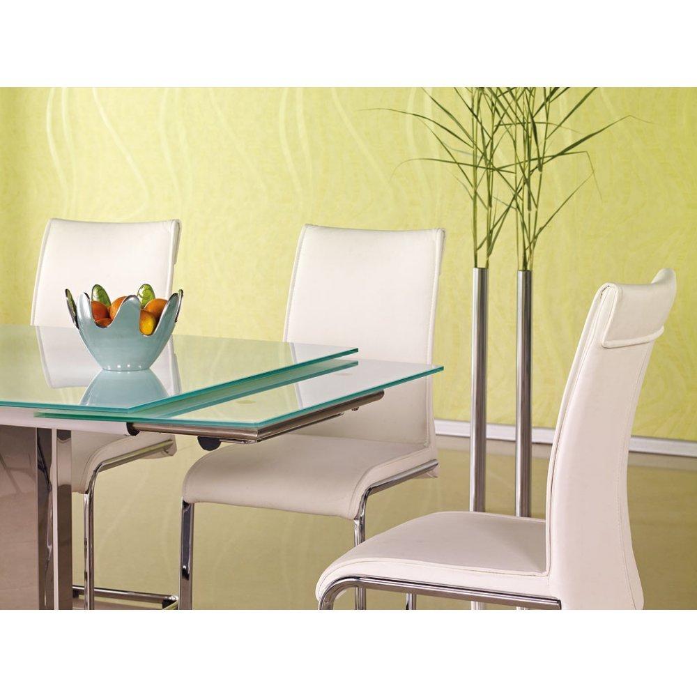 Justhome table de salle à manger alessandro extensible en verre ...