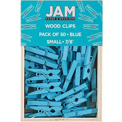 JAM Paper Wood Clip Clothespins - Small - 7/8