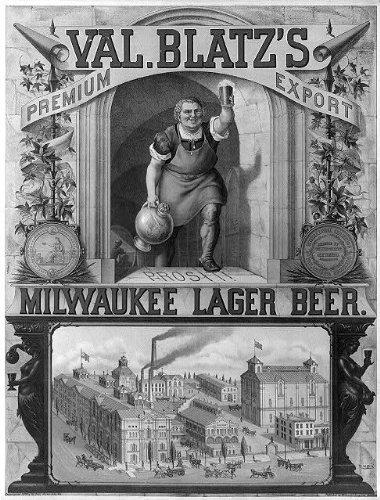 Photo: Val. Blatz's premium export, Milwaukee lager beer / M. Ulffers