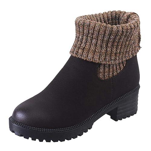 Beladla Botas Mujer Invierno Tacon Forrado Calentar Boots De Calcetines Botas Altas Botines Moda Casual Outdoor Zapatos De Nieve Snow Zapatillas: Amazon.es: ...