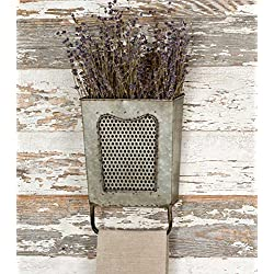 Galvanized Steel Vintage Dalton Wall Box with Towel Bar