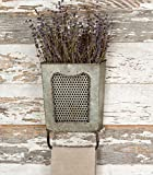 colonial home decor Colonial Tin Works Galvanized Steel Vintage Dalton Wall Box with Towel Bar, Galvanised