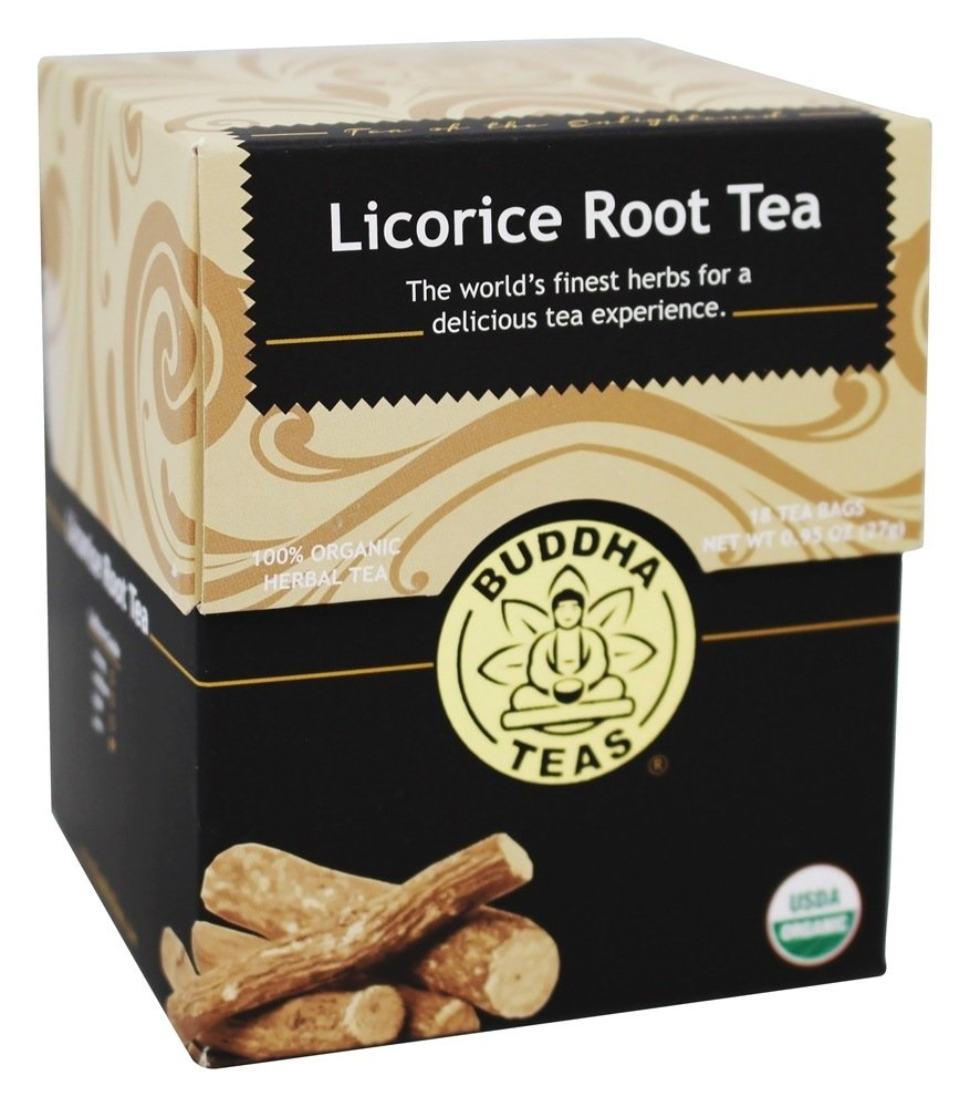 Organic Licorice Root Tea - Kosher, Caffeine-Free, GMO-Free - 18 Bleach-Free Tea Bags