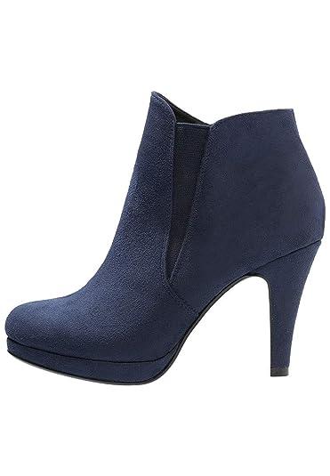 Anna Field Botines de Tacón Alto para Mujer - Botas Stiletto con Tacón - Botas de Plataforma - Botas con Pieza Elástica - Elegante Chelsea Boots: Amazon.es: ...