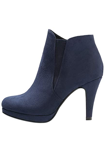 d80683451fc4eb ANNA FIELD High Heel Ankle Boots for Women - Stiletto Boots with Platform  Heel in Navy