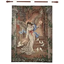 Manual Inspirational Collection 26 X 36-Inch Wall Hanging and Finial Rod, Angel of Love by Lena Liu,