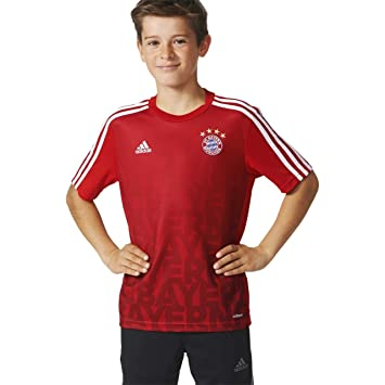 cb6fc4401435c4 FC Bayern Munich Home Adidas Children Pre Match Shirt AC3885