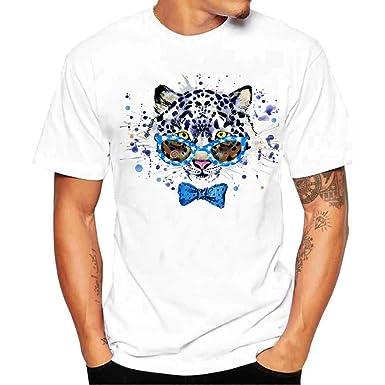 save off 119bc 7bcf1 feiXIANG T-Shirts Bluse Männer Karikatur Tier drucken Hemd ...