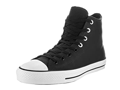 3738e1b318e393 Amazon.com | Converse Unisex Chuck Taylor All Star Pro Black and White  Leather High Basketball Shoe | Skateboarding