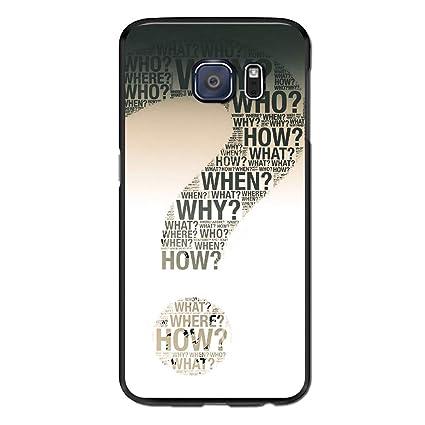 Amazon Com S6 Edge Case Question Mark Case For Galaxy S6