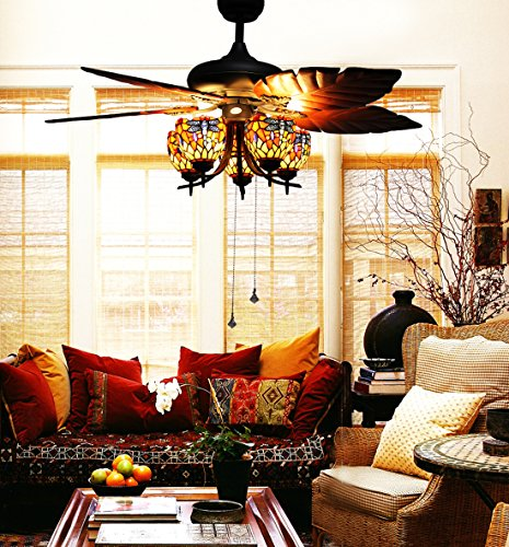 makenier-vintage-tiffany-style-stained-glass-5-light-dragonfly-uplight-ceiling-fan-light-kit-with-ba