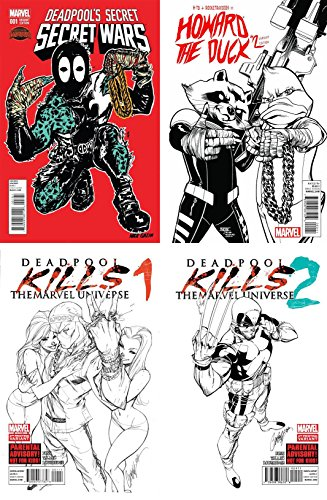 Run the Jewels Variant Set - Deadpool's Secret Secret Wars #1, Howard the Duck #2, Deadpool Kills the Marvel Universe 1-2 - Bundle of Four (4) Marvel (Marvel Jewel Costume)