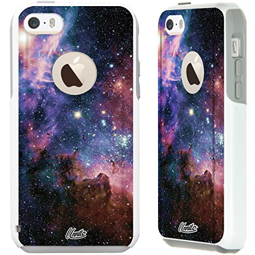 Unnito iPhone 5C Case – Hybrid Commuter Case | Slim Cover with Hard Shell Design and Soft Inner Layer Compatible with iPhone 5C White Case - Galaxy Nebula)