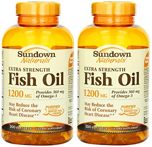 Sundown naturals fish oil 1200 mg extra strength softgels for Fish oil depression dosage